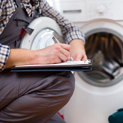 Service für die Waschmaschine.