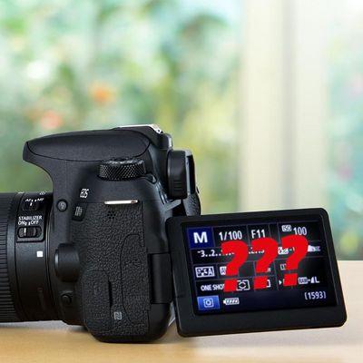 Viele Symbole der Spiegelreflexkamera sind leicht zu erklären.