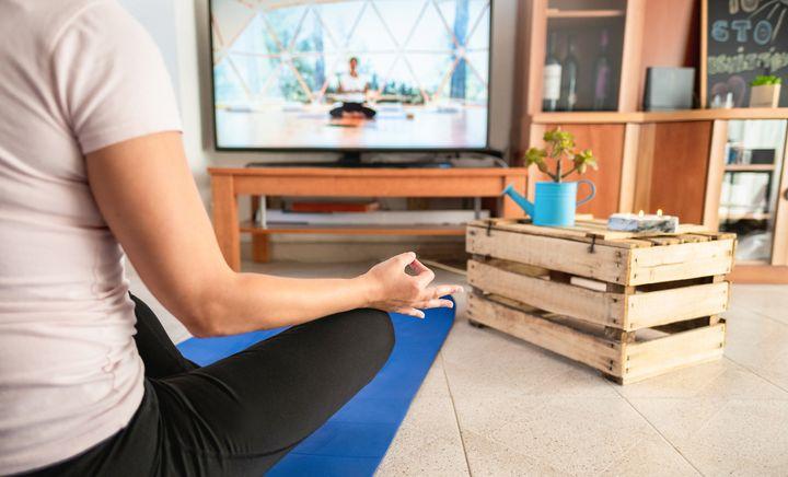 Yogakurs am TV