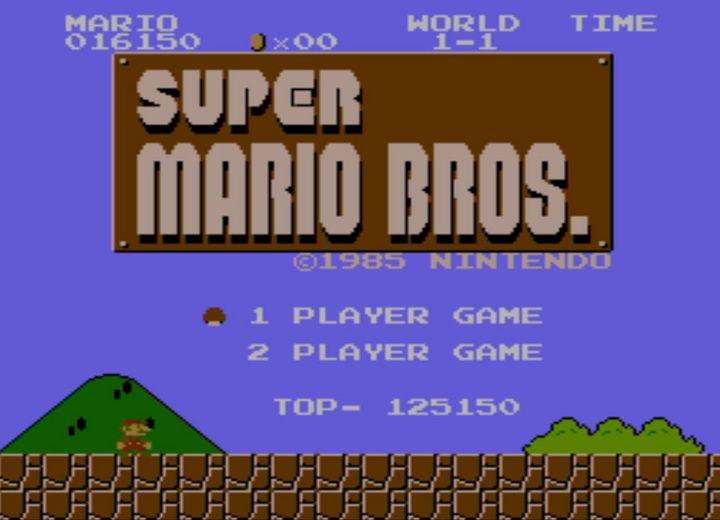 Die Anfänge Marios auf der Konsole.