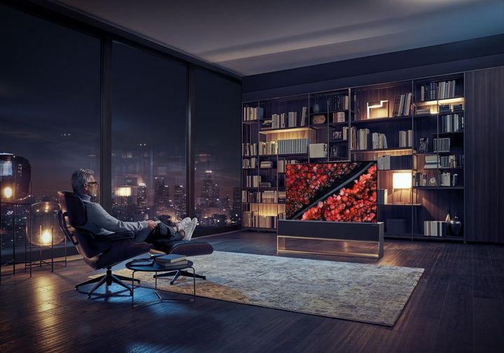 LG zeigte auf der CES neue OLED-TVs.