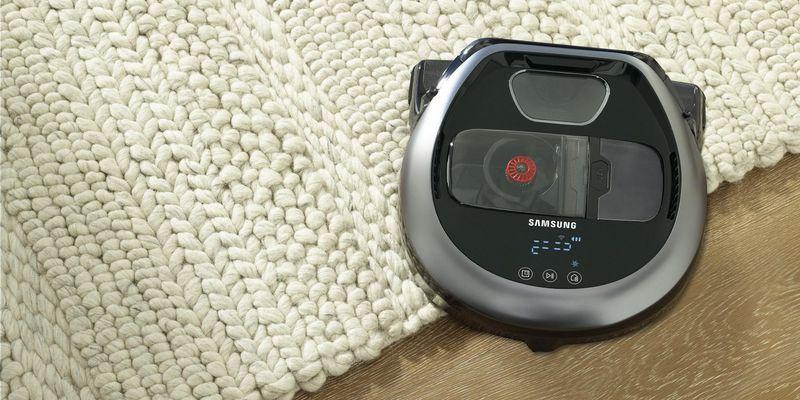 Flacher Feger: Samsung POWERbot VR7000M Slim.