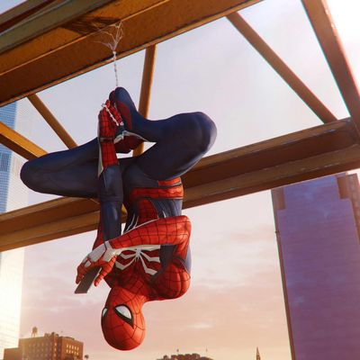 "Spider-Man landet auf der ""PlayStation 4""."