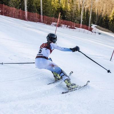 Slalom Läuferin Lenzerheide