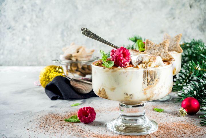Aus Keksresten kann man Lebkuchen-Tiramisu, Vanillekipferl-Parfait oder Spekulatius-Cheesecake machen.