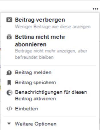 So schalten Sie Personen im Facebook stumm.