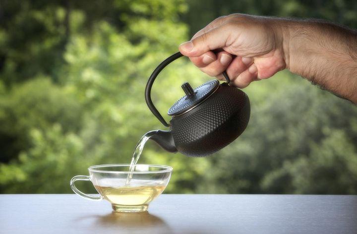 Weißer Tee.