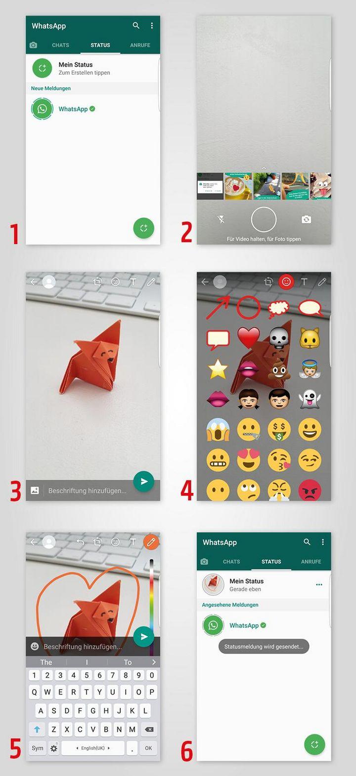Whatsapp So Erstellen Sie Statusmeldungen Ihren Status In