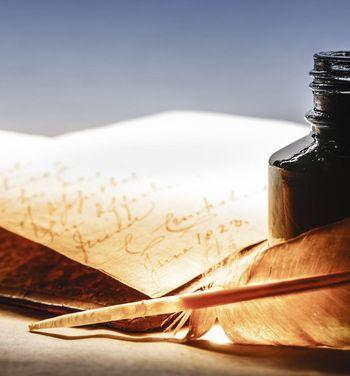 Schreiben mit einem Federkiel