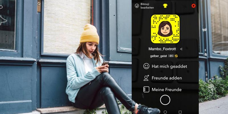 Die wichtigsten Zeichen in Snapchat werden erklärt.