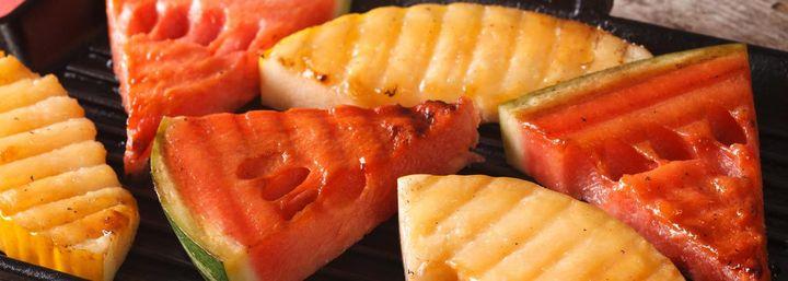 Ungewöhnliches Grill-Rezept: gegrillte Melone.