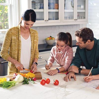 Digitales Ernährungsprotokoll: Echtzeiten auf dem Fitbit-Dashboard