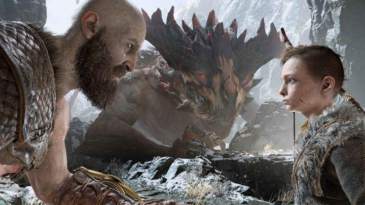 o Atreus steht seinem Vater mit dem Bogen zur Seite.