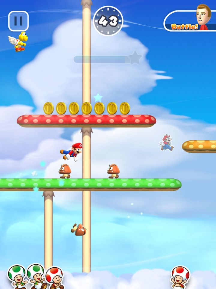 "Ein Screenshot aus ""Super Mario Run"""