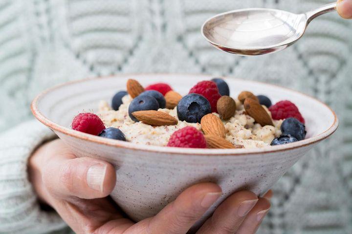 Porridge zum Frühstück.