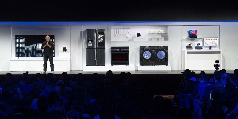 CES-Pressekonferenz, 7. Jänner 2019: Yoon Lee (Senior Vice President Samsung Electronics America) präsentierte die Samsung-Produktneuheiten.