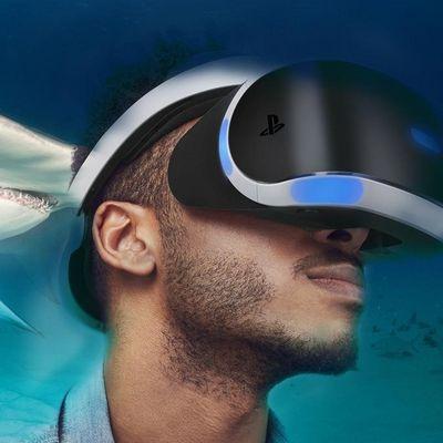 Mit dem Headset der PlayStation VR in YouTube-Videos eintauchen.