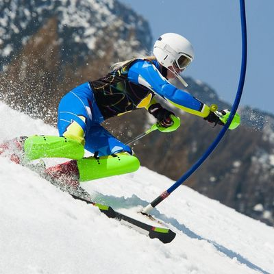 Riesenslalom Lenzerheide Skiläuferin
