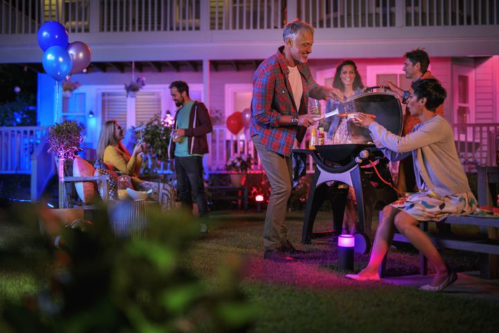 Die Philips Hue-Outdoorbeleuchtung.