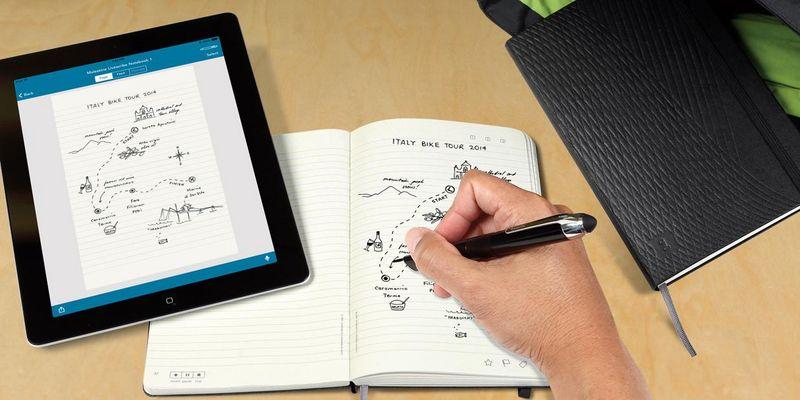 Smart schreiben mit Smartpen und Tablet.