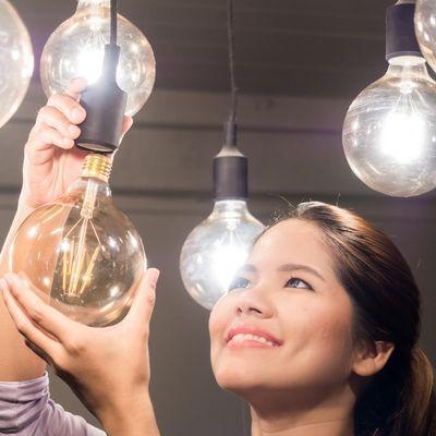 LED-Lampen sind besonders energiesparend.