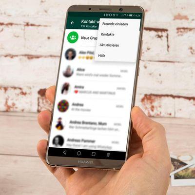 Kontaktliste auf WhatsApp aktualisieren.
