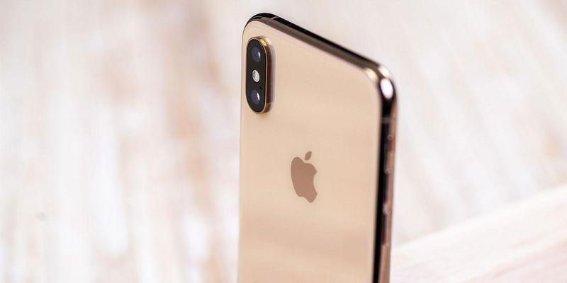 Das iPhone XS im Fokus.