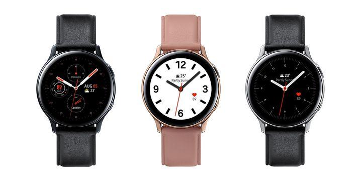 """Samsung zeigt mit der """"Galaxy Watch Active 2"""" die neueste Version einer smarten Sportuhr."""