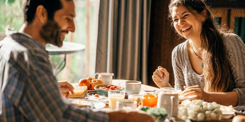 Ein gemeinsames Frühstück.
