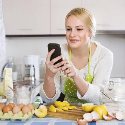 Smartphone als Küchenhelfer
