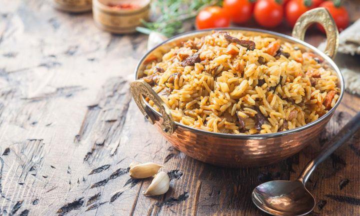 Eintopf mit Lamm und Reis.