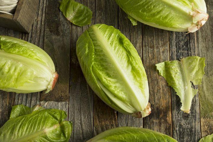 Rezept für Ceasar-Salat vom Grill.