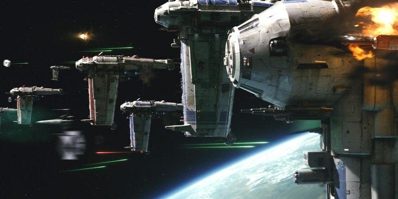 """Szene aus """"Star Wars: Die letzten Jedi""""."""
