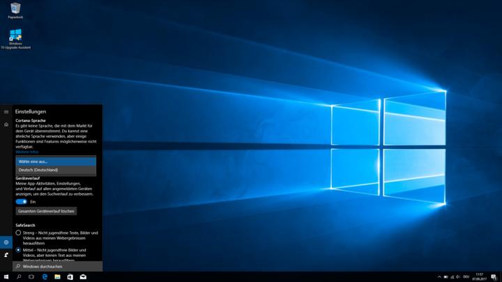 So aktiviert man den Sprachassistenten Cortana unter Windows 10.