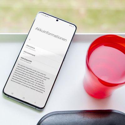 """Akkumanagement mit dem """"Galaxy S20"""" von Samsung."""