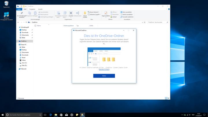 """""""OneDrive"""" dient dazu, Dateien online zu speichern."""