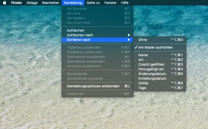 Smartes Sortieren unter OS X