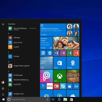 Die wichtigsten Funktionen des Windows 10 Startmenüs.