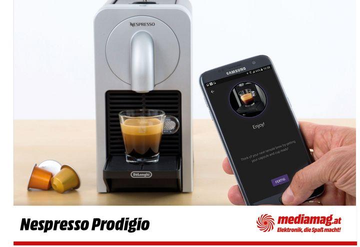 Pro Kaffeemaschine lässt sich ein Handy oder Tablet koppeln.