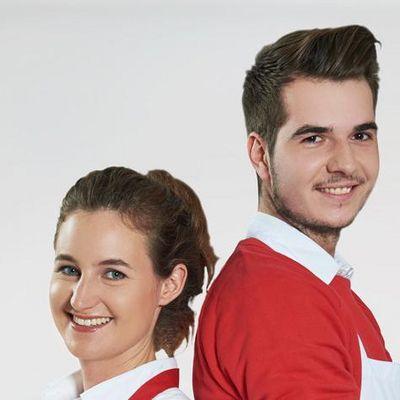 Eva und Thomas dürfen sich auf die Unterstützung zweier Hobbyköche freuen.
