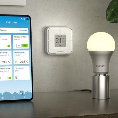 Smarte Lichtsteuerung und Fernbedienung im Smart Home mit FRITZ!.