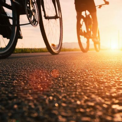 Radfahren ist gut für die Gesundheit.