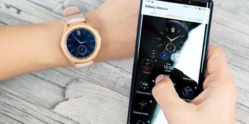 """So stellen Sie das Ziffernblatt bei der Samsung """"Galaxy Watch"""" ein."""