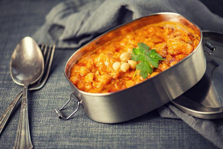 Süßkartoffel-Auberginen-Kichererbsen-Curry