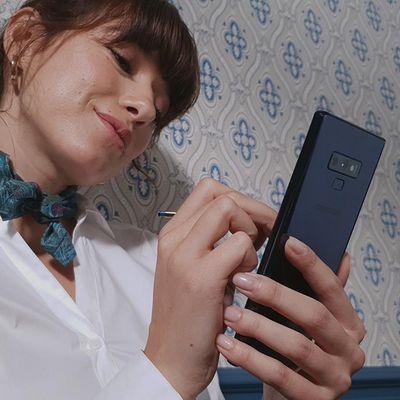 """Samsung präsentiert sein neues Flaggschiff """"Galaxy Note9""""."""