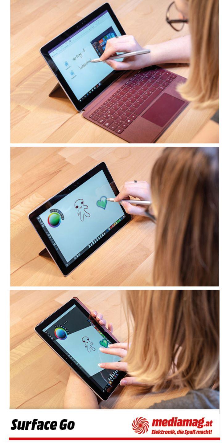 """Gemeinsam mit dem """"Surface Pen"""" holen Sie das meiste aus dem """"Surface Go""""."""