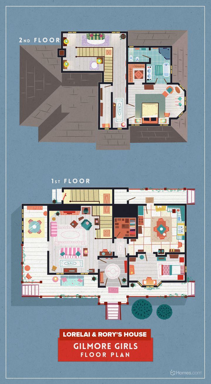 Das Haus von Lorelai und Rory in Gilmore Girls.