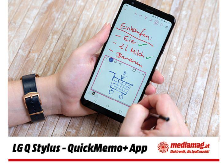 """Notizen lassen sich mit dem """"LG Q Stylus"""" besonders schnell aufzeichnen."""