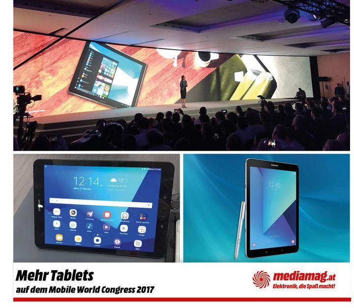 Drei Tablets von Samsung
