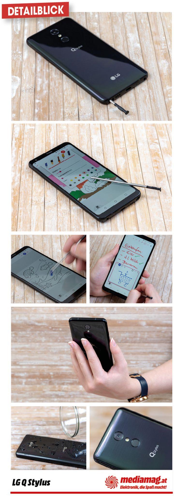 Das Smartphone steckt in einem stabilen Gehäuse.